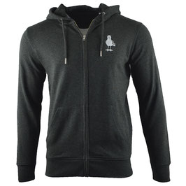 honourebel Unisex HERRING GULL mid heavy Zip Hoodie - 'Stormy' DarkPearlAnthracite/White