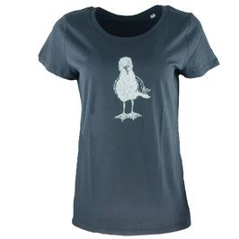honourebel Women's HERRING GULL light T-shirt - SquidInkGrey/White