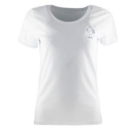 honourebel Women's HERRING GULL T-shirt - Whitewater/Blue-Grey