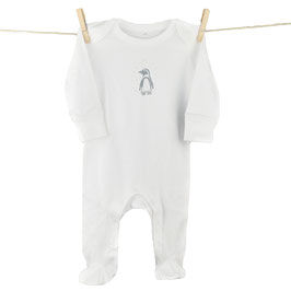 honourebel Babies' MAGELLANIC PENGUIN Romper - Whitewater/Anthracite
