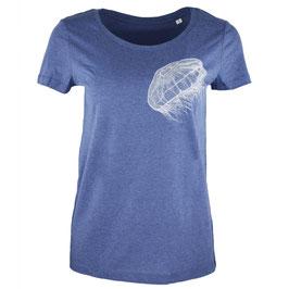 honourebel Women's MOON JELLYFISH light T-shirt - SummerLakeBlue/White