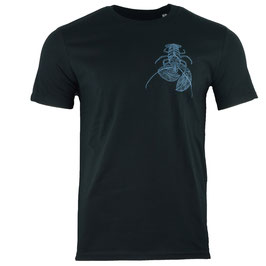 honourebel Men's COMMON LOBSTER heavy T-shirt SquidInkBlack/Blue-Grey