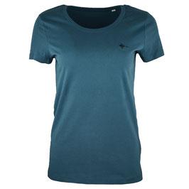 honourebel Women's BRAND RAY T-shirt - SpirulinaGreen/Black