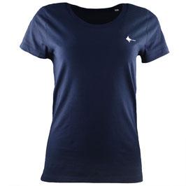honourebel Women's BRAND RAY T-shirt - DeepSeaNavy/White