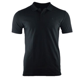honourebel Men's BRAND RAY  heavy Polo Shirt - SquidInkBlack-Black