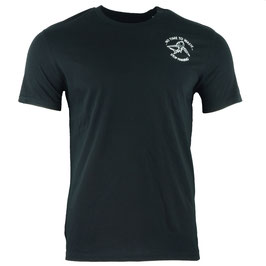 Men's STOP FINNING heavy T-shirt - SquidInkBlack/White