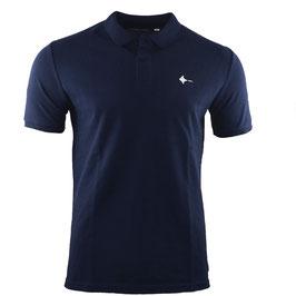 honourebel Men's BRAND RAY  heavy Polo Shirt - DeepSeaNavy/White