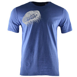honourebel Men's MOON JELLYFISH heavy T-shirt SummerLakeBlue/White