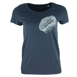honourebel Women's MOON JELLYFISH light T-shirt SquidInkGrey/White
