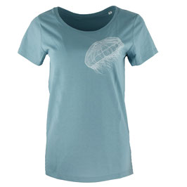 honourebel Women's MOON JELLYFISH T-shirt - CloudyLagoonBlue/White