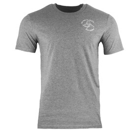 honourebel Men's STOP FINNING heavy Supporter T-shirt - 'Stormy' AtlanticGrey/White