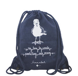 honourebel Recycled Gym Bag HERRING GULL - DeepSeaBlue/White