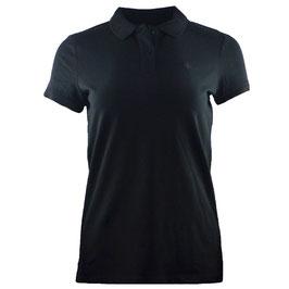 honourebel Women's BRAND RAY mid heavy Polo Shirt - SquidInkBlack/Anthracite