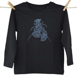 honourebel Kids' SMALL COMMON LOBSTER Long Sleeve Top - SquidInkBlack/Blue-Grey