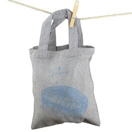 honourebel Small Recycled Carrier Bag MOON JELLYFISH - MistyRainbowGrey/Blue-Grey