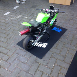 Mini bike bedrukte mat