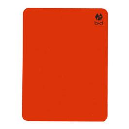 Carte disciplinaire d'arbitre, rouge fluo