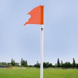 Begrenzungsstange(50mm/weiß) inkl.Fahne (neon-rot) und Bodenhülse