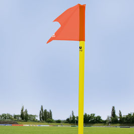 Begrenzungsstange(50mm/neon-gelb) inkl.Fahne(neon-rot) und Bodenhülse