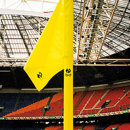 Begrenzungsstange inkl. Fahne (neon-gelb/ 40mm)