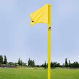 Begrenzungsstange(50mm/neon-gelb) inkl.Fahne(neon-gelb) und Bodenhülse