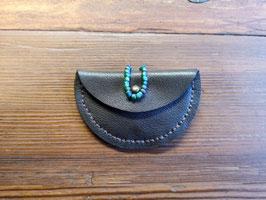Lederhülle (braun) für Kopfhörer oder Münzen