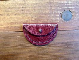 Lederhülle (rot) für Kopfhörer oder Münzen