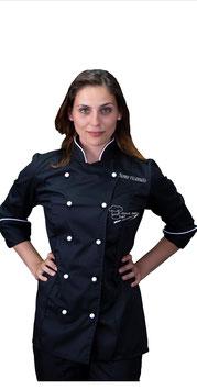 Giacca chef Donna Nero/Bianco M/L RITROVO DELLO CHEF