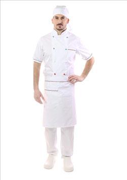 Completo Cuoco Bianco Italia, Manica corta