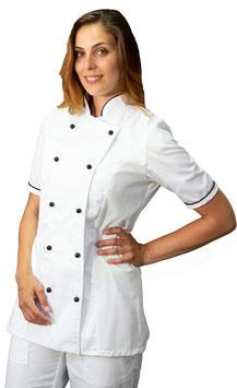 Giacca cuoco Lady M/C Bianco/Nero