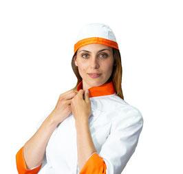 Bandana Bianca/Arancione