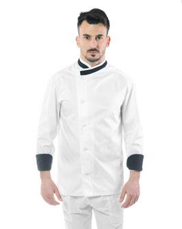 Giacca cuoco uomo Messi Bianco/NERO