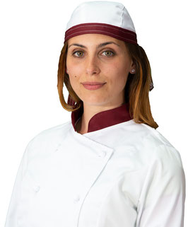 Bandana Bianca/Bordeaux