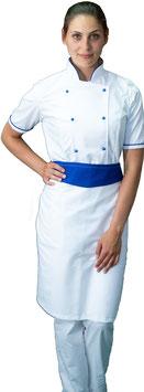 Completo Cuoco Lady M/C Bianco/Blu