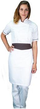 Completo Cuoco Lady M/C Bianco/Cioccolato