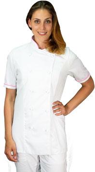 Giacca cuoco Lady M/C Bianco/Rosa
