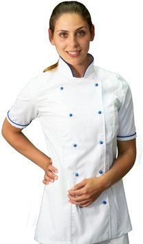 Giacca cuoco Lady M/C Bianco/Royal