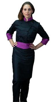 Completo Cuoco Lady Nero/Viola