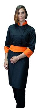 Completo Cuoco Lady Nero/Arancio