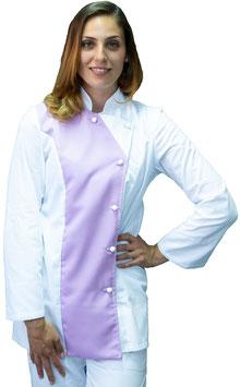 Giacca Cuoco Lady 1 petto Bianco/Lilla