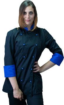 Giacca cuoco Lady Nero/Royal