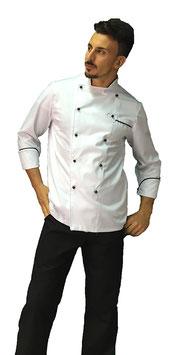 Completo cuoco Contrasto Bianco