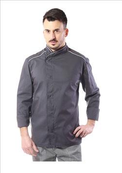 Giacca cuoco uomo Executive  Grigio/Bianco
