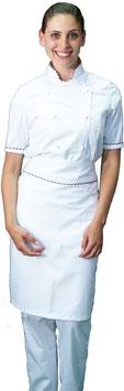 Completo Cuoco Lady M/C Bianco Italia