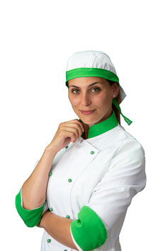 Bandana Bianca/Verde