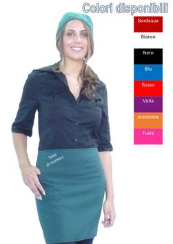 grembiule mini unisex ricamato,colore a scelta