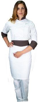 Completo Cuoco Lady Bianco/Cioccolato