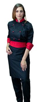 Completo Cuoco Lady Nero/Rosso