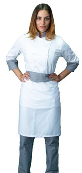 Completo Cuoco Lady Bianco/pied de poule