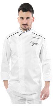 Giacca chef Uomo Sirio bianca/nera M/L RITROVO DELLO CHEF